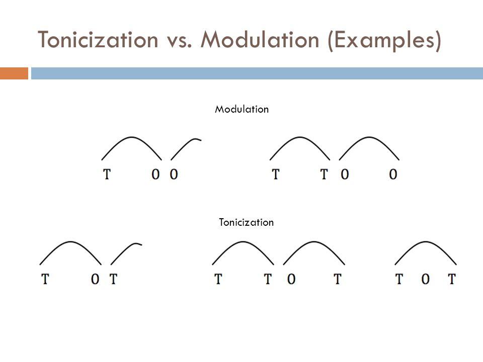 Tonicization vs. Modulation (Examples) Modulation Tonicization