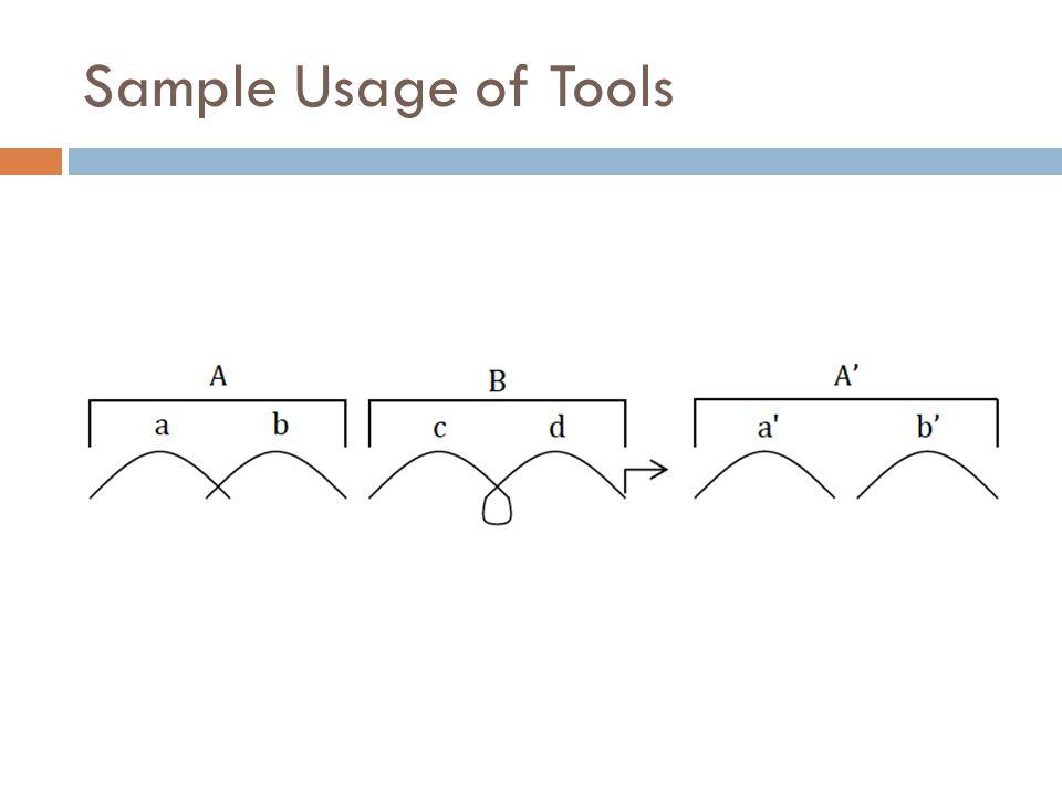 Sample Usage of Tools abcda'b'