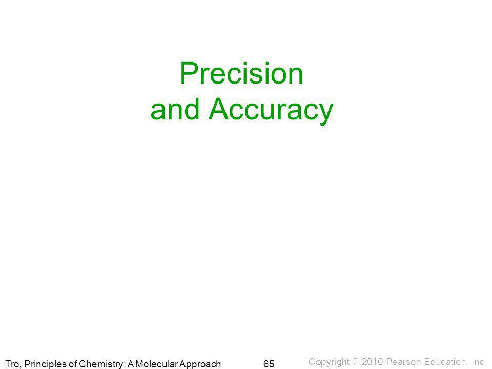 Tro, Principles of Chemistry: A Molecular Approach Precision and Accuracy 65
