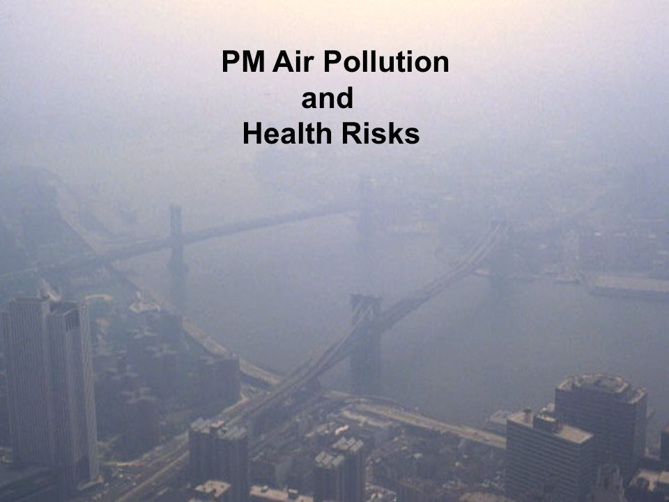 PM Air Pollution and Health Risks