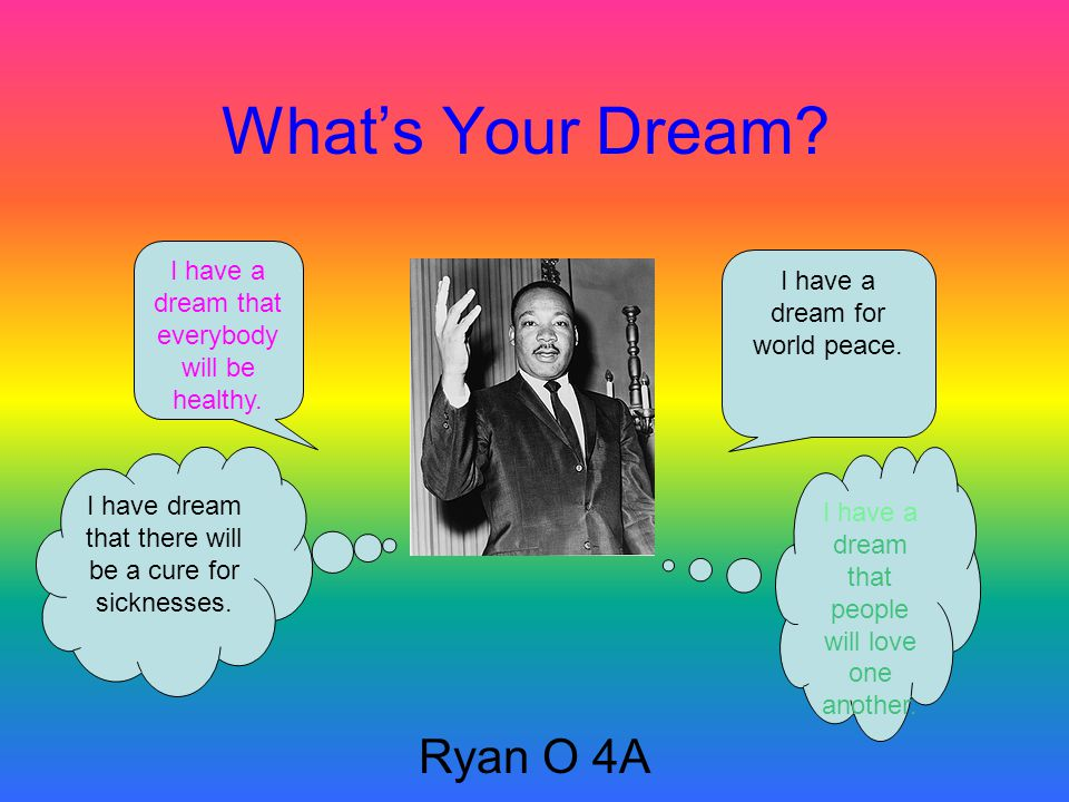 What's Your Dream.Rose H 4A I have a dream that no one will litter.