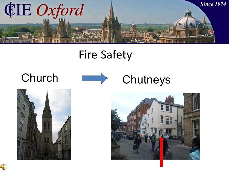Church Fire Safety Chutneys