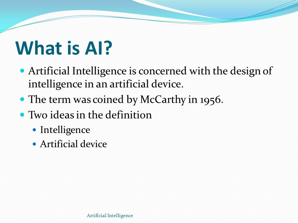 AI Features Thinking humanly Thinking rationally Acting humanly Acting rationally Artificial Intelligence