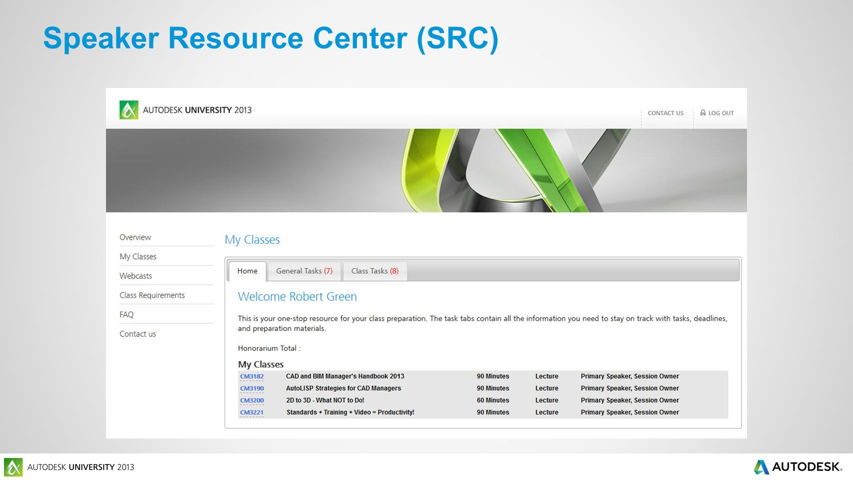 Speaker Resource Center (SRC)