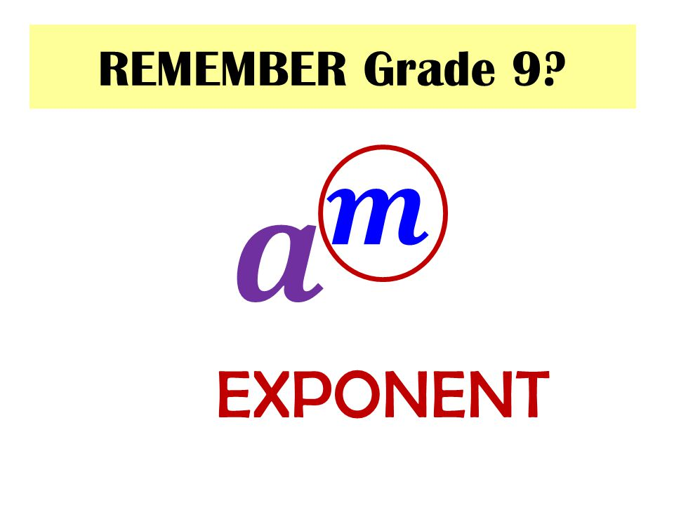 REMEMBER Grade 9? We can further use it to calculate fractional exponents with numerator 1…