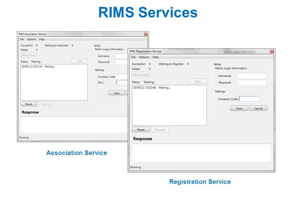 RIMS Services Association Service Registration Service