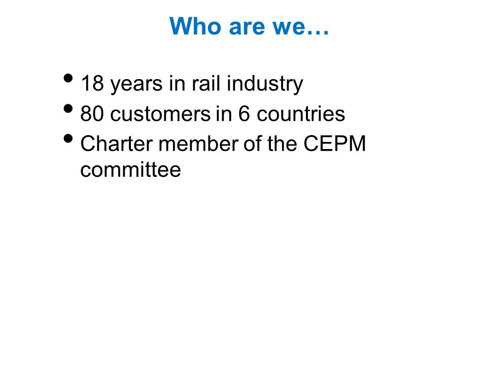 Questions? www.aicRail.com www.aicRail.com/CEPM.html Download the presentation