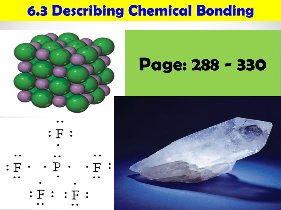 Thermochemistry CHEMICAL BONDS IONIC Electrostatic attraction between ions.