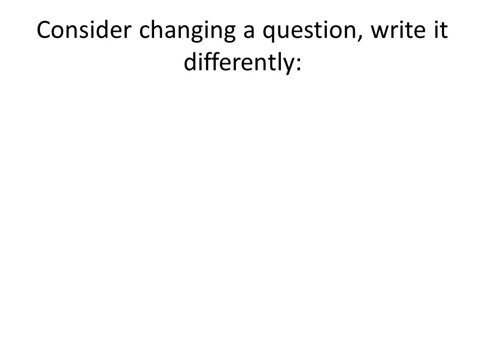 May 2011 Question 3 (1 mark) Mr Swain devises the following hypotheses for his study 'students that receive feedback about their work will do better on future tests than those who receive no feedback'.