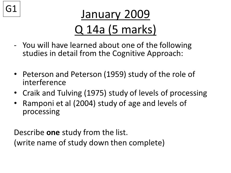 May 2011 Question 13b (4 mark) Outline one strength and one weakness of the theory described in (a).