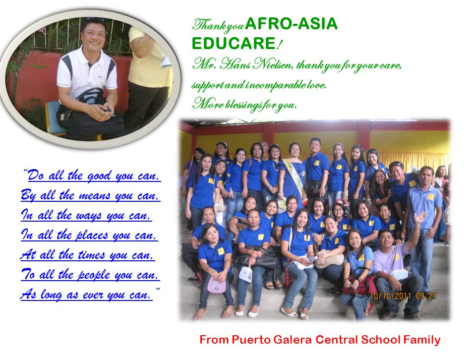 Thank you AFRO-ASIA EDUCARE . Mr.