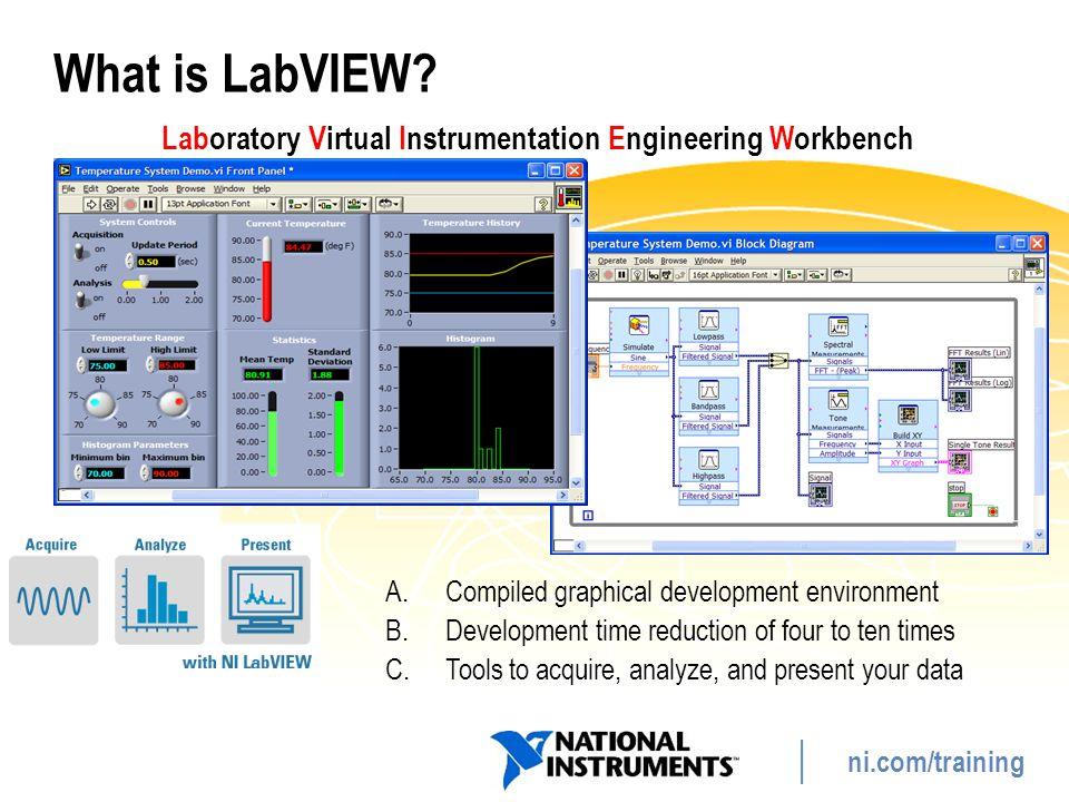 ni.com/training E. Front Panel – Front Panel Toolbar 13