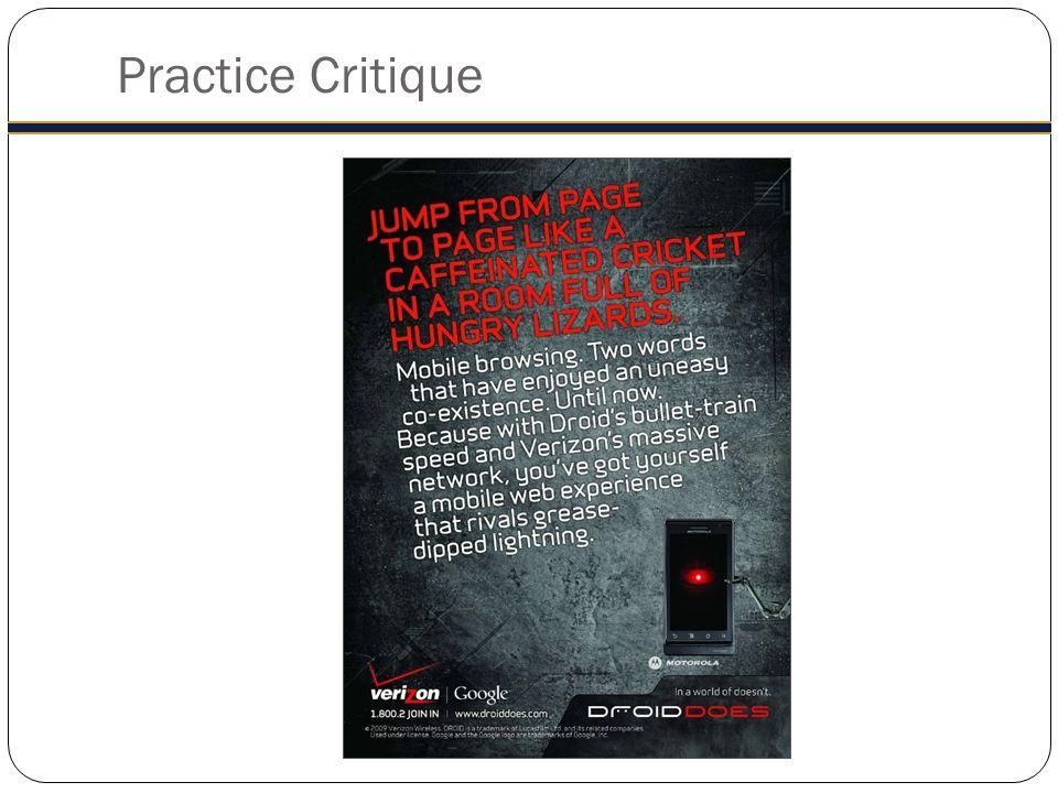 Practice Critique