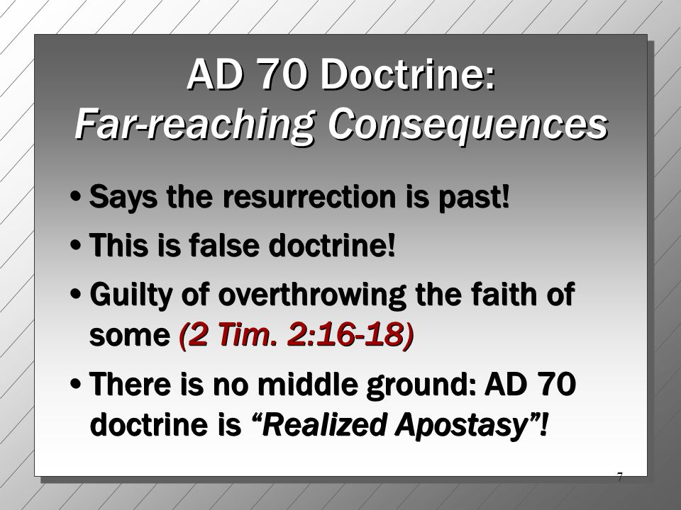 28 John 5:28-29: What the Future Holds… A bodily resurrection Judgment of the dead These did not occur in AD 70, but will happen when Jesus bodily and visibly returns Are you ready.