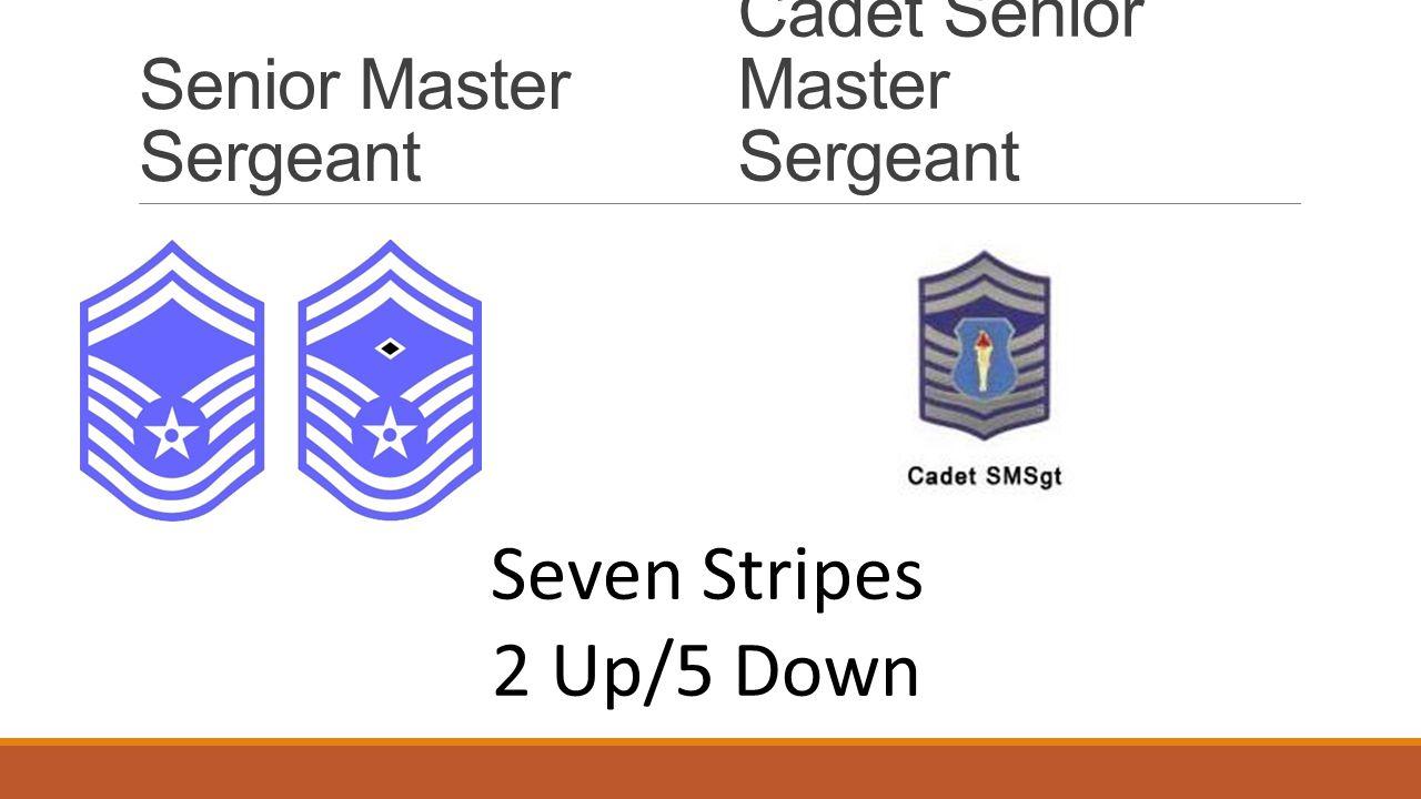 Senior Master Sergeant Cadet Senior Master Sergeant Seven Stripes 2 Up/5 Down