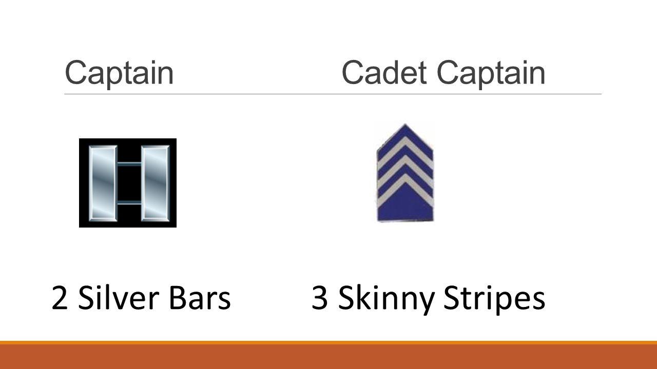 CaptainCadet Captain 2 Silver Bars3 Skinny Stripes