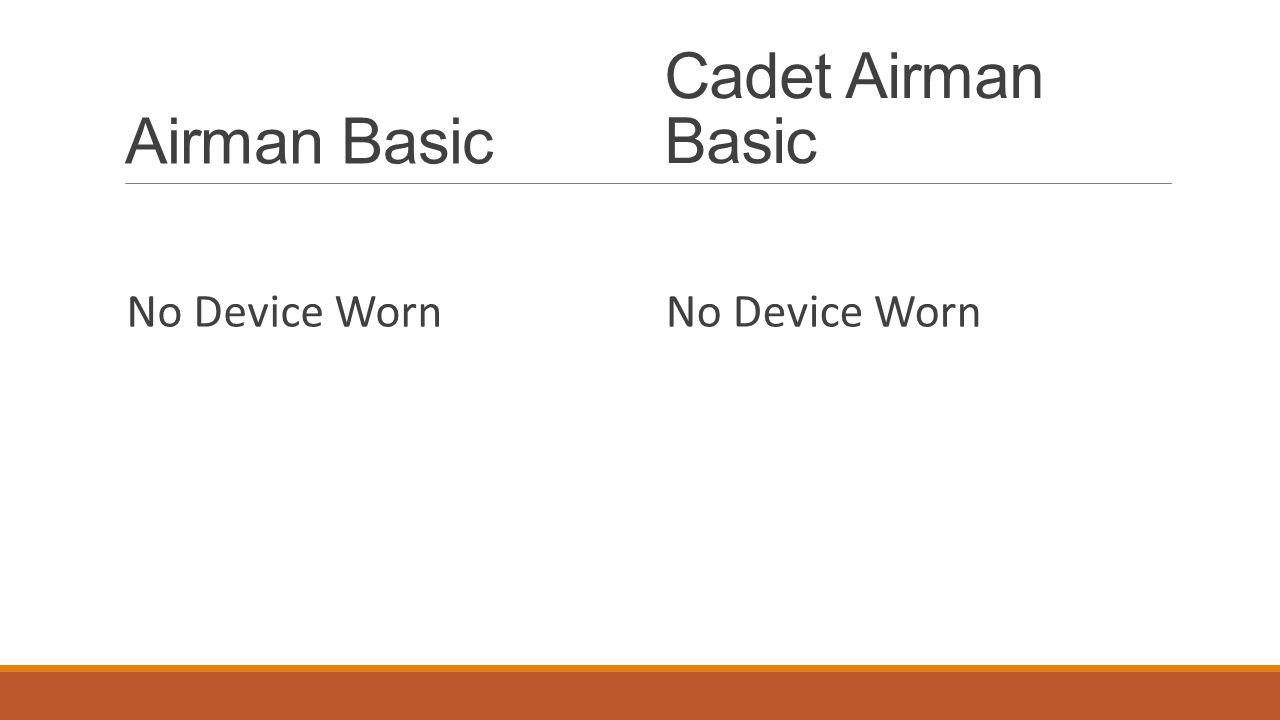 Airman Basic No Device Worn Cadet Airman Basic No Device Worn