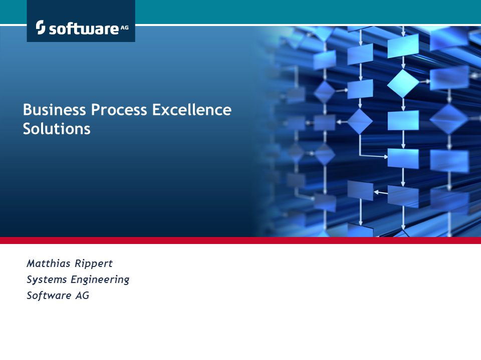 Business Process Excellence Solutions Matthias Rippert Systems Engineering Software AG