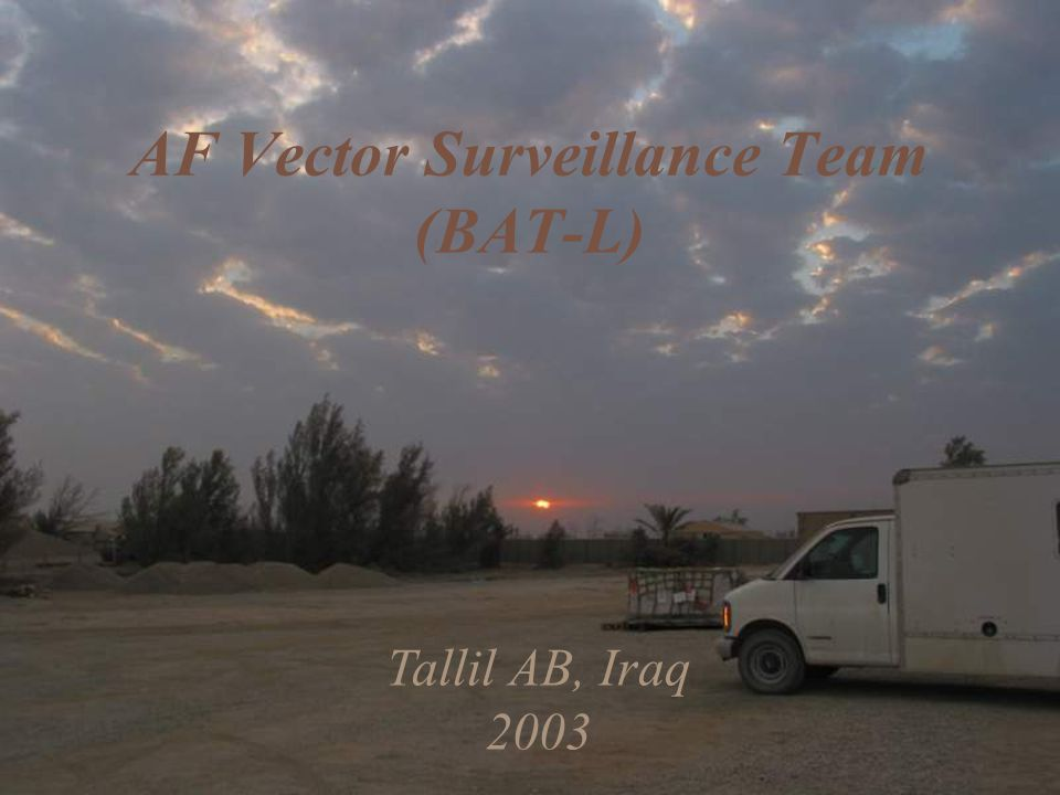 Tallil AB, Iraq 2003 AF Vector Surveillance Team (BAT-L)