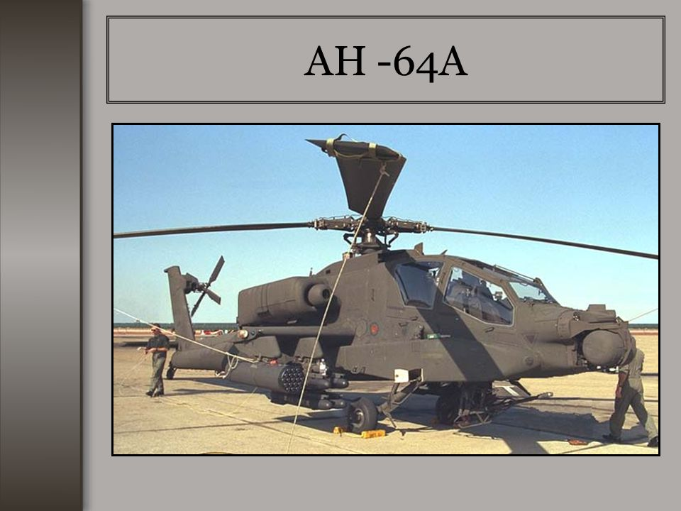 AH-64D and AH-64D Longbow The combat-proven AH-64D Apache and AH-64D Apache Longbow share the following history and characteristics: Testing in the late 1990s, delivery in 1997, in production for the U.S.