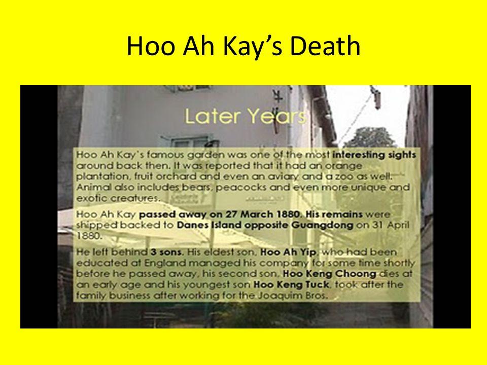 Hoo Ah Kay's Death