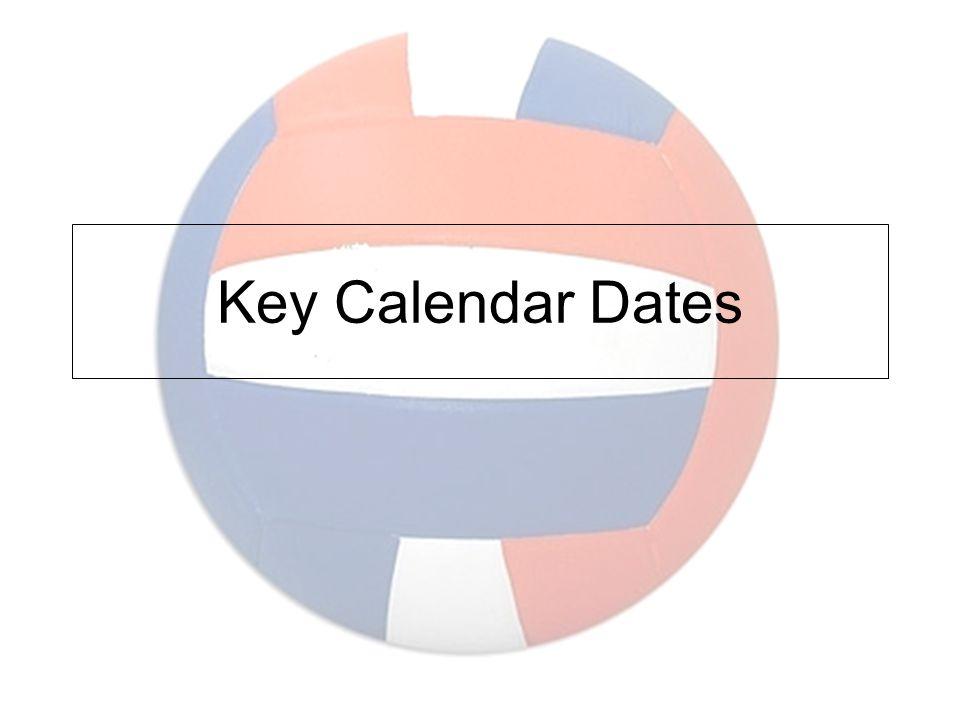 Key Calendar Dates