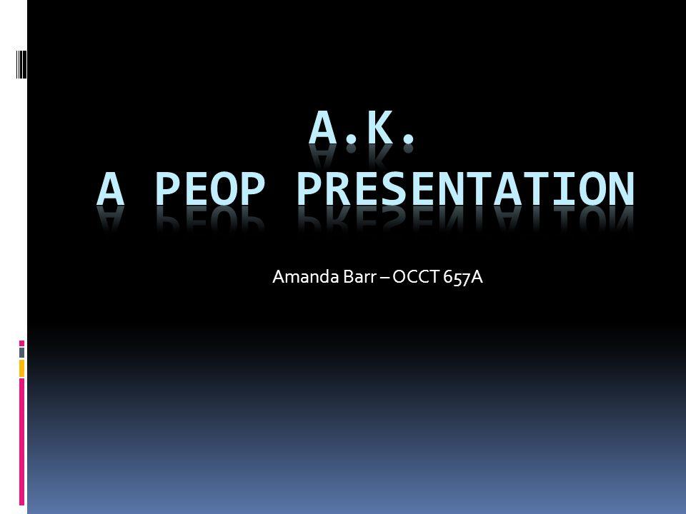 Amanda Barr – OCCT 657A