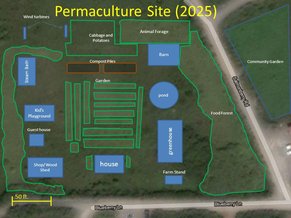 Permaculture Site (2025) 50 ft.