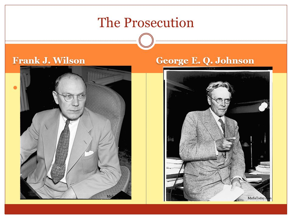 The chronology of the case April 23, 1930 The Chicago Crime Commission issues first Public Enemy List.