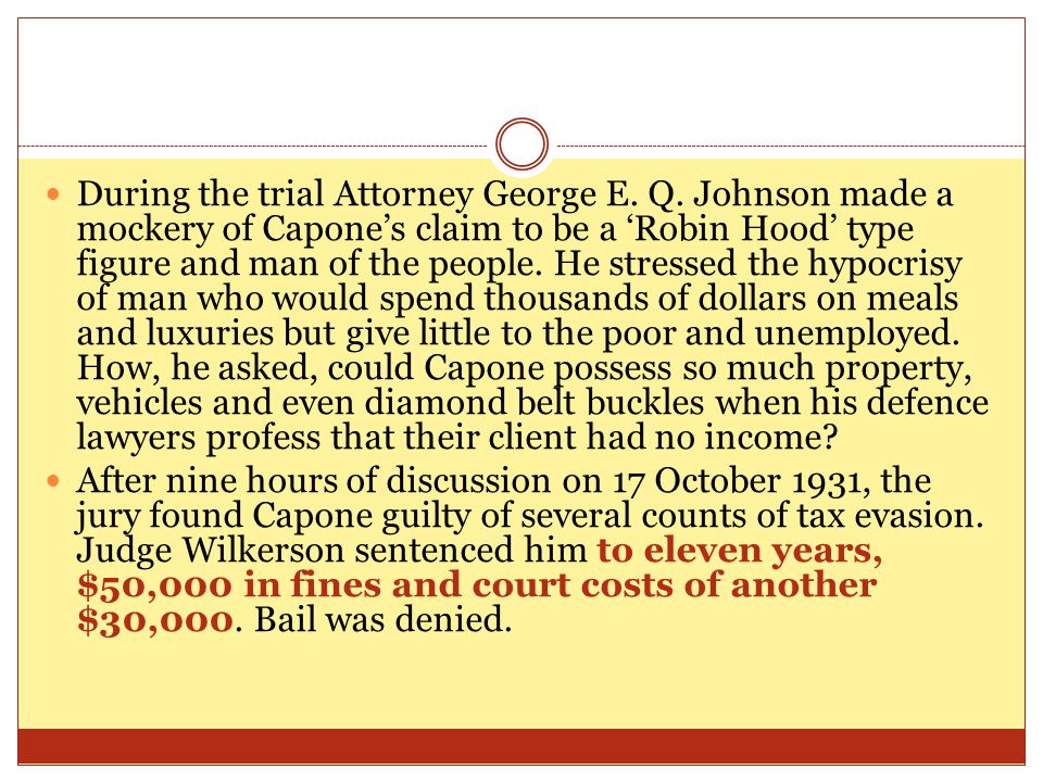 During the trial Attorney George E. Q.
