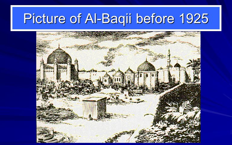 Picture of Al-Baqii before 1925