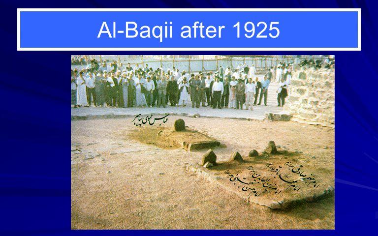 Al-Baqii after 1925