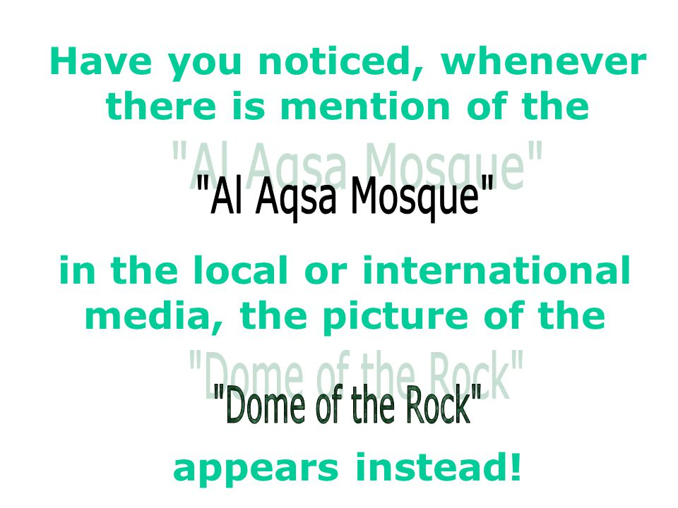 Conspiracy against Masjid Al Aqsa
