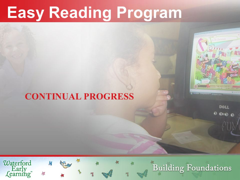 CONTINUAL PROGRESS Easy Reading Program