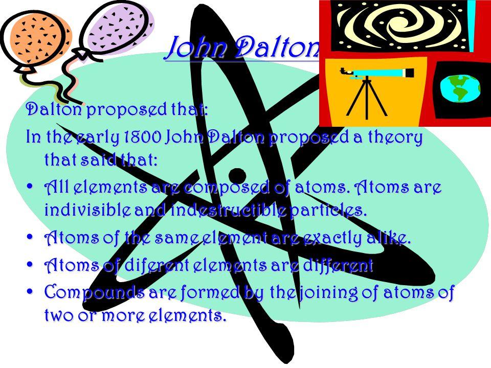 John Dalton John Dalton.