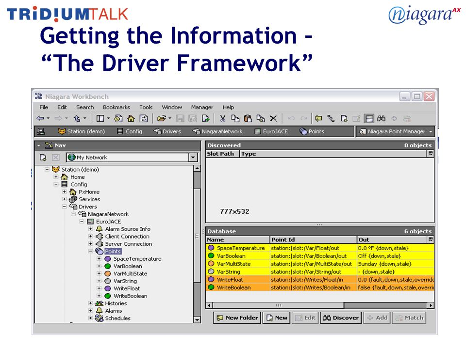 "11 Getting the Information – ""The Driver Framework"""