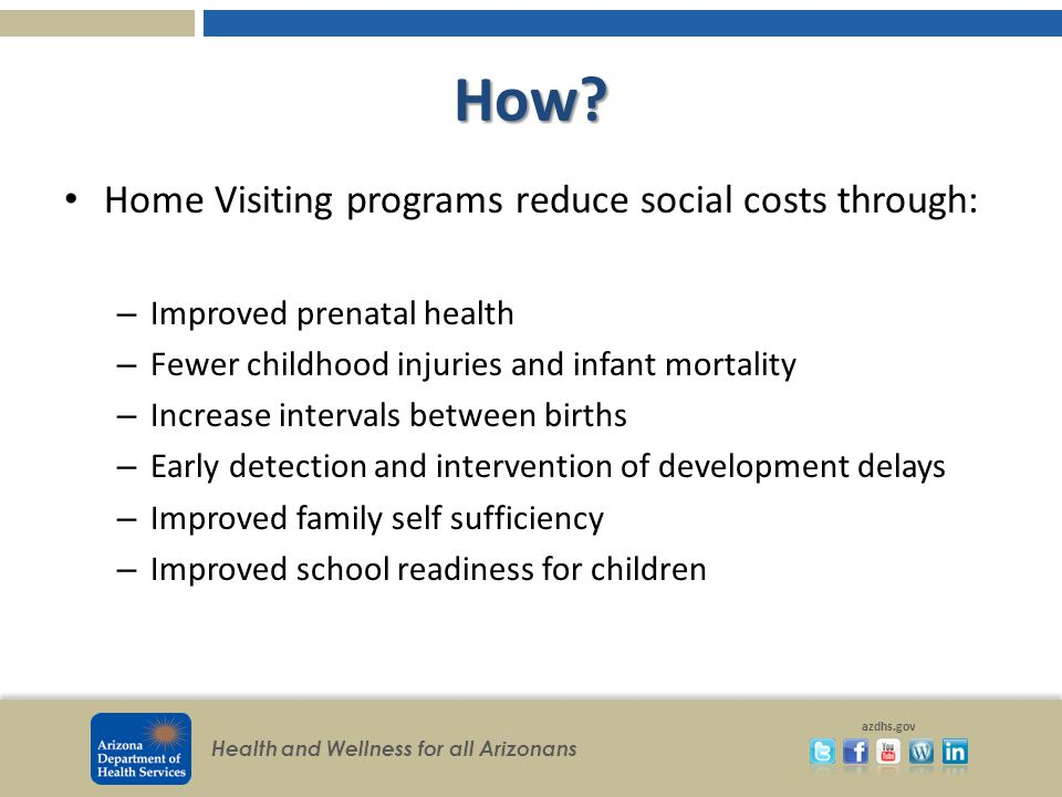 Health and Wellness for all Arizonans azdhs.gov Watch a Success Story