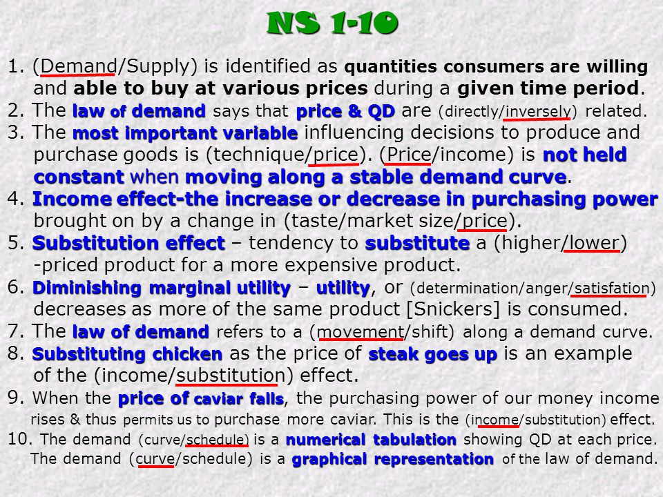 """""""increase in QD""""Snickers 1. What would cause an """"increase in QD"""" for Snickers? a. increase in price of Snickers b. decrease in price of Snickers c. de"""