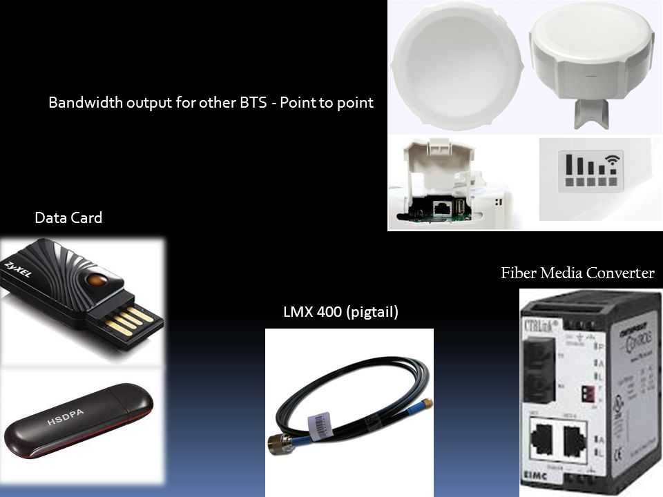 Bandwidth output for other BTS - Point to point Data Card LMX 400 (pigtail) Fiber Media Converter