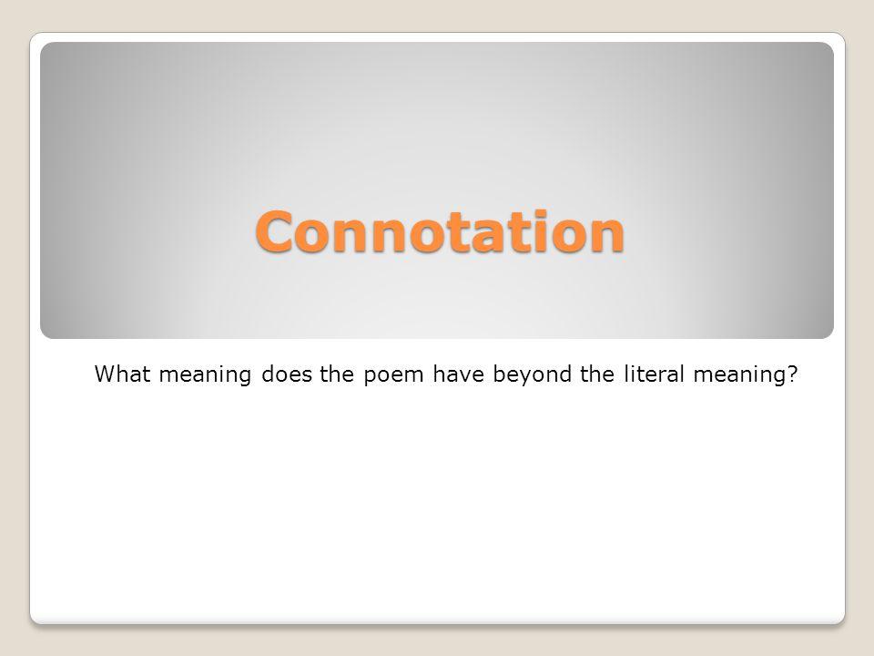 Form a lyric poem.