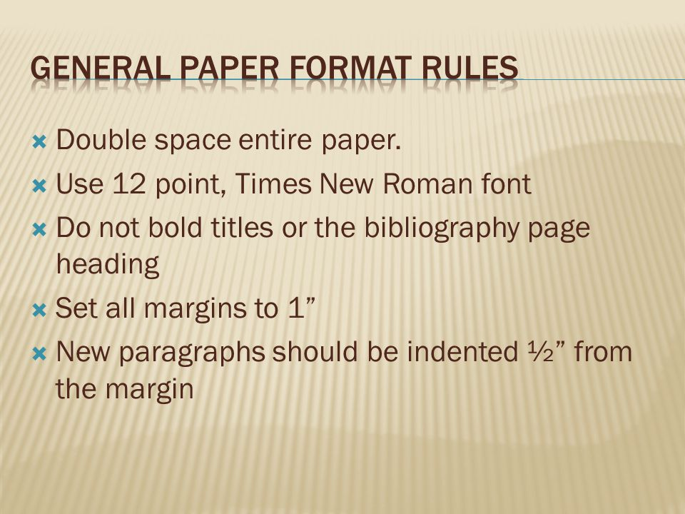  Double space entire paper.