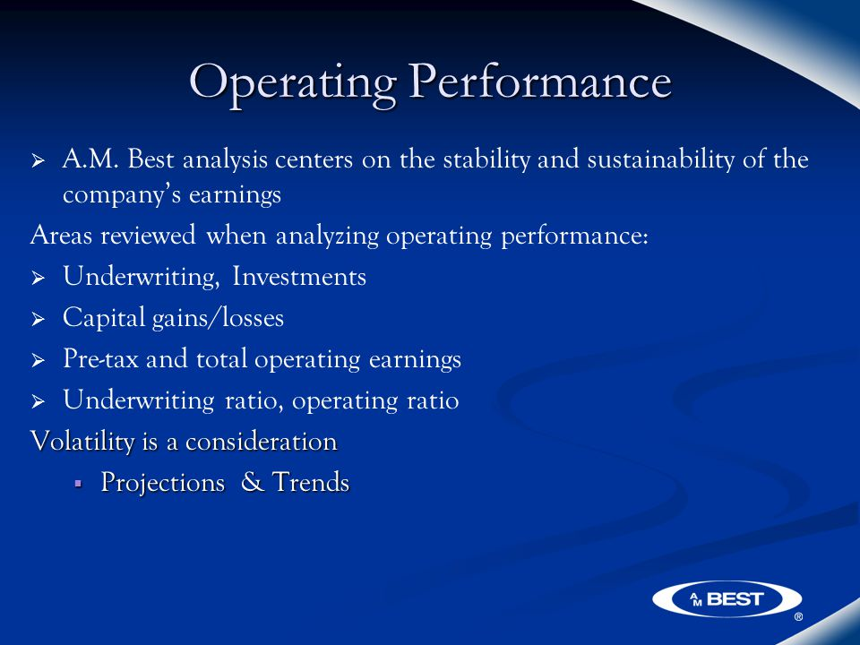 Operating Performance   A.M.