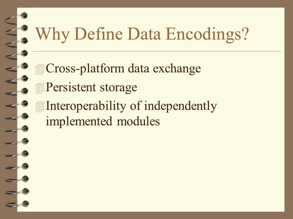 Why Define Data Encodings.