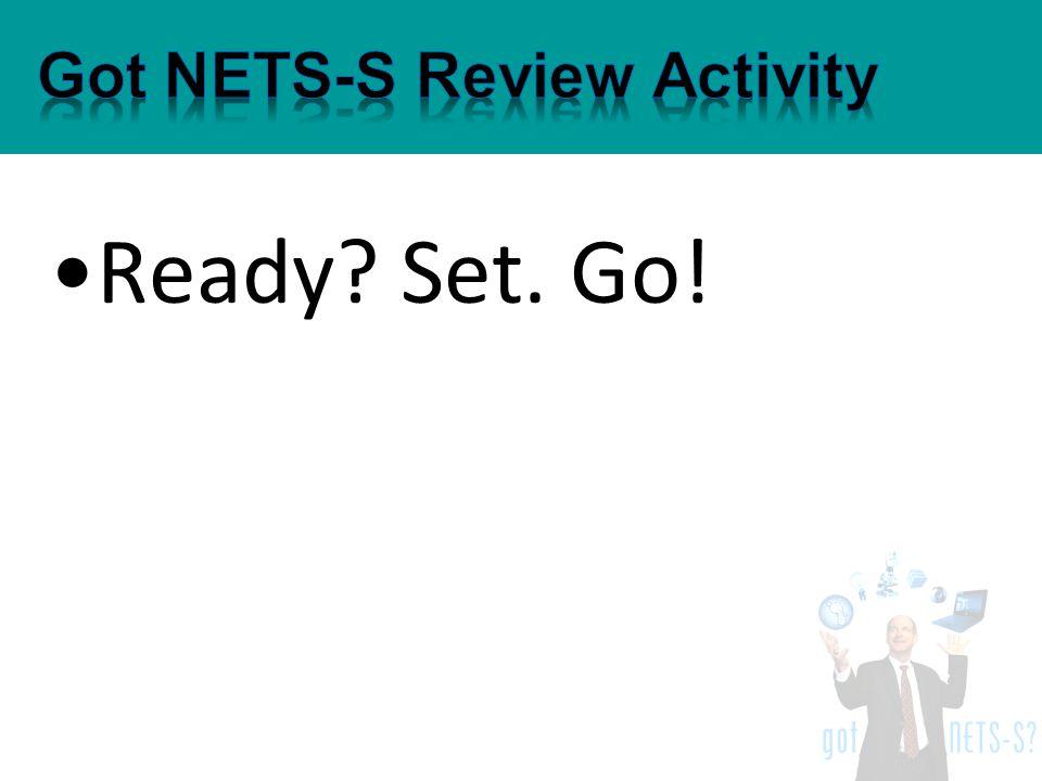 Ready? Set. Go!