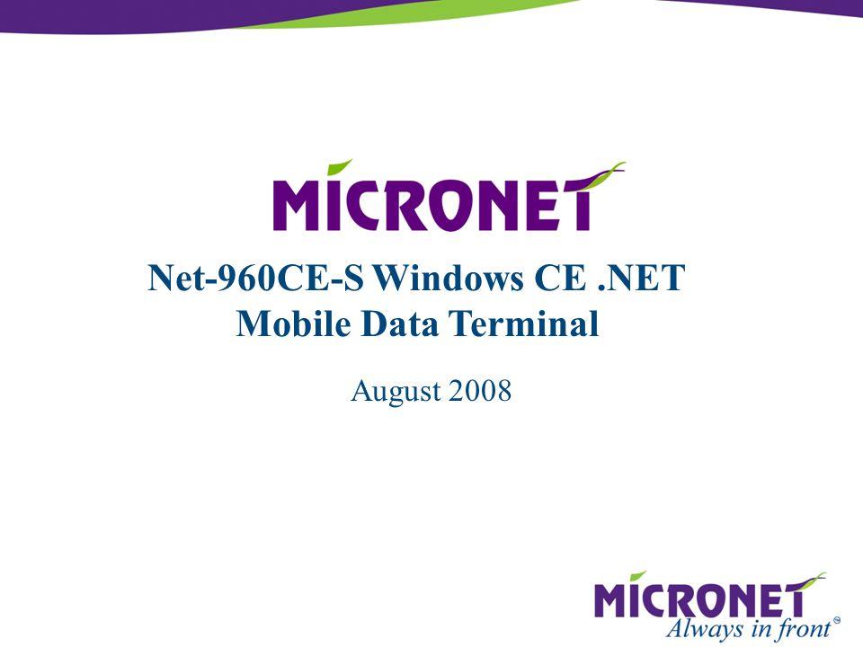 August 2008 Net-960CE-S Windows CE.NET Mobile Data Terminal