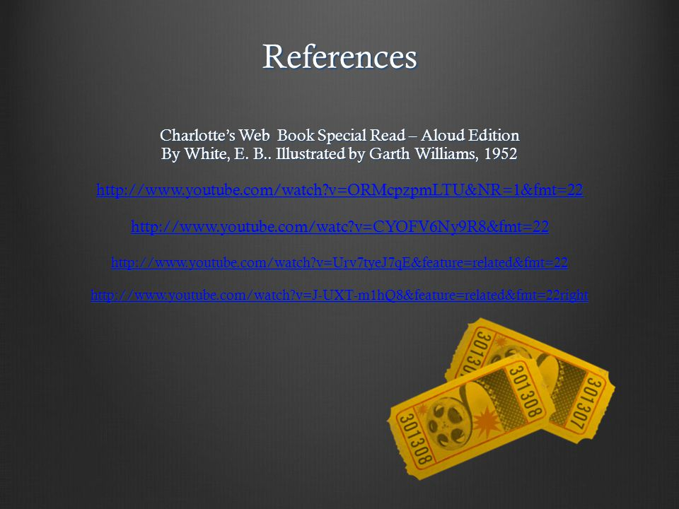 References Charlotte's Web Book Special Read – Aloud Edition By White, E.