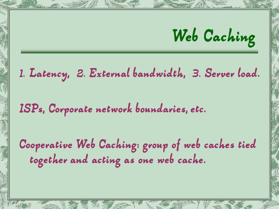 Web Cache Browser Cache Browser Cache Centralized Web Cache Web Server Sharing ! LAN Internet