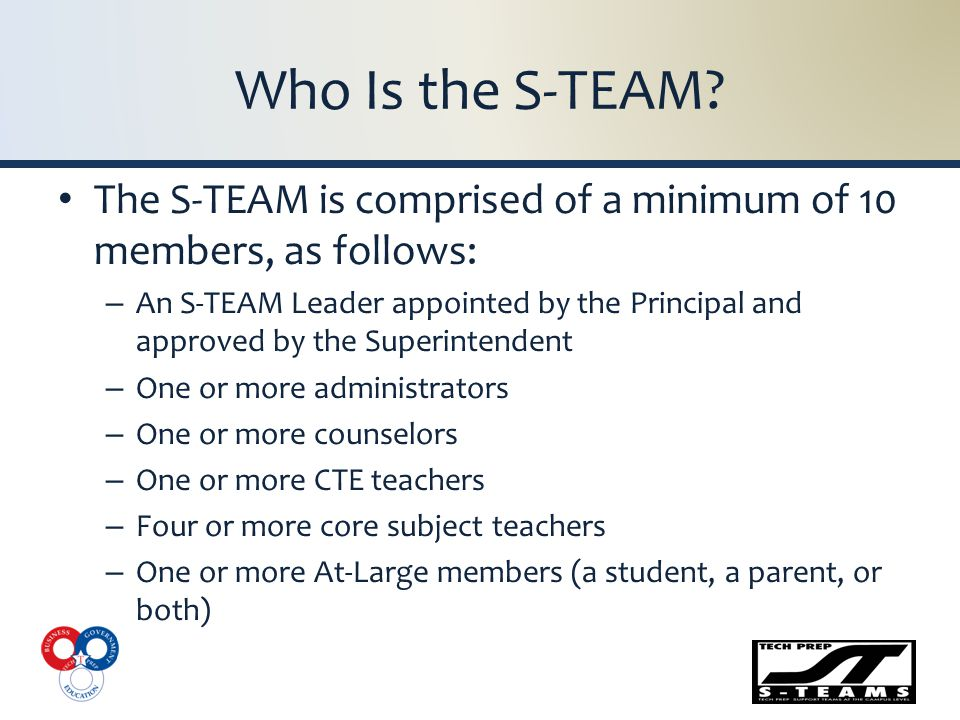 What Is the S-TEAM Leader's Role.