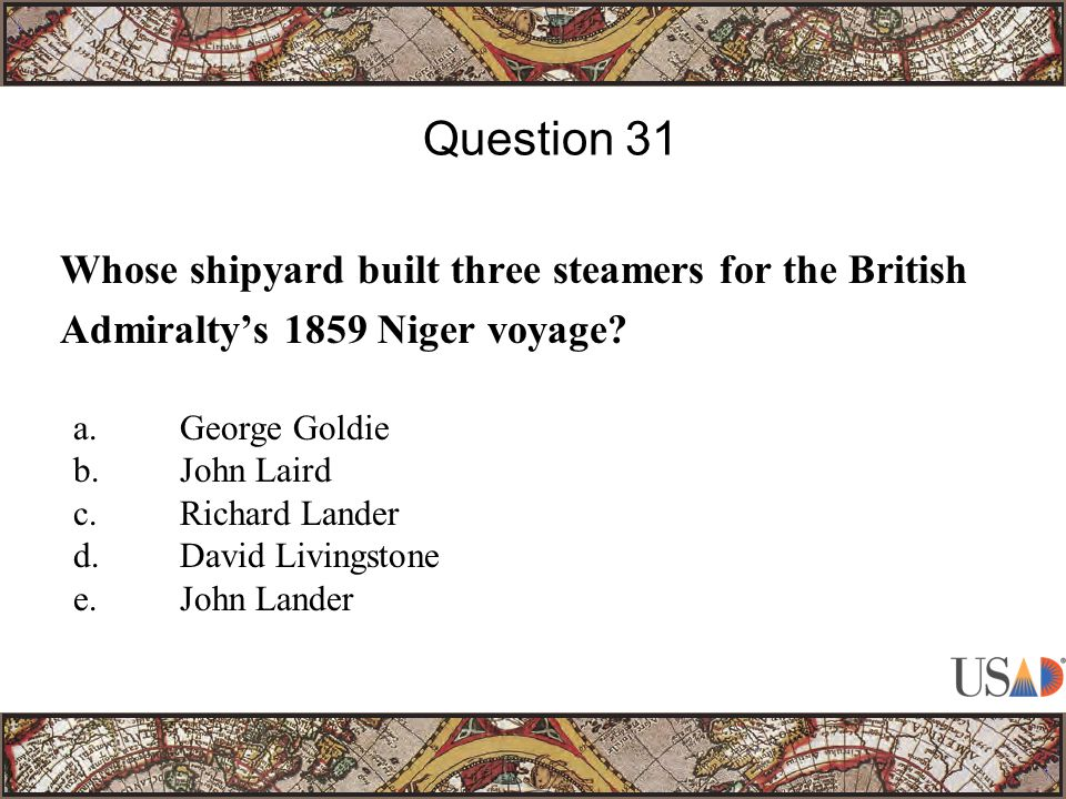 Whose shipyard built three steamers for the British Admiralty's 1859 Niger voyage.