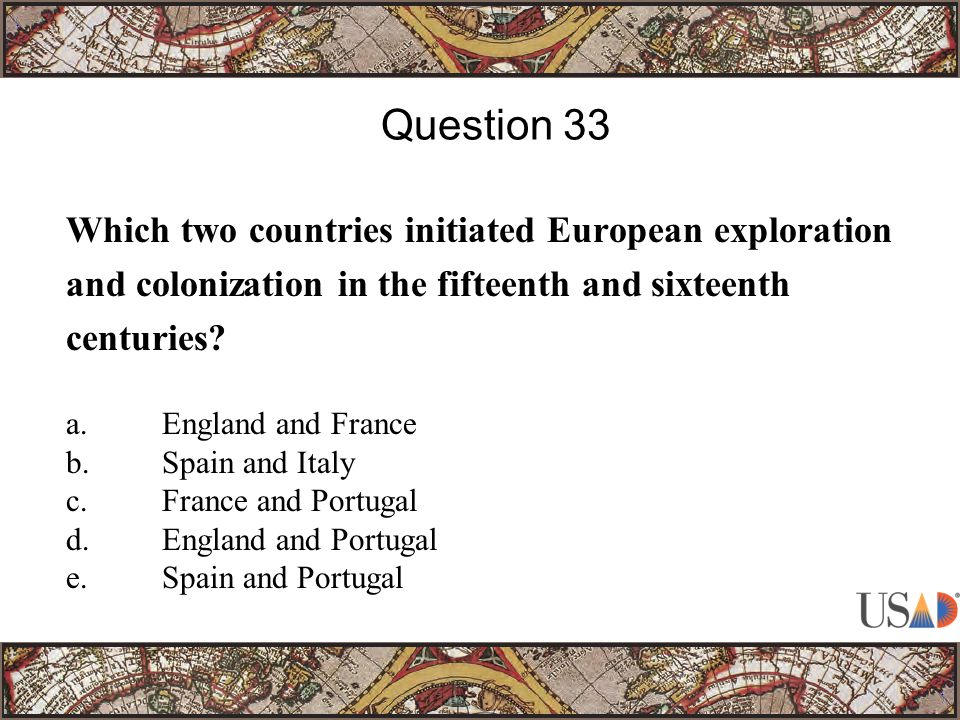 Which two countries initiated European exploration and colonization in the fifteenth and sixteenth centuries.